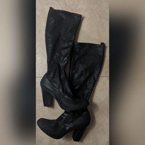 Donald J Pliner Chenia Black Tall Boots